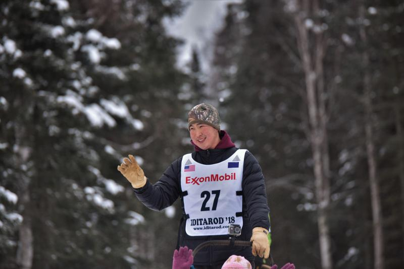Mike Williams Jr. finished the 2018 Iditarod on March 15, 2018.