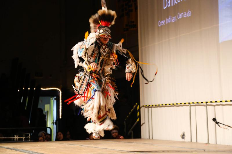 The Running Thunder dancers represent First Nations of Canada and tribes of the lower 48.