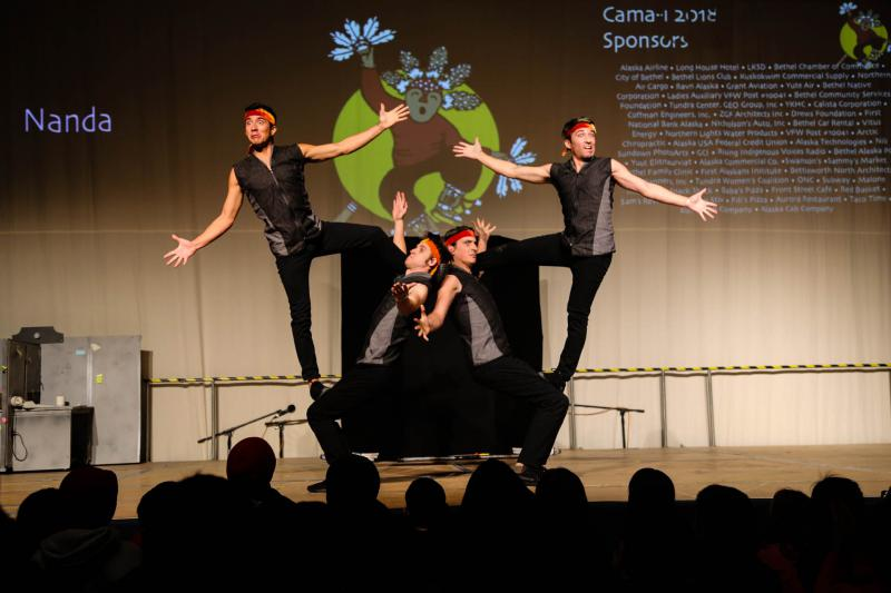 The acrobatical group, Nanda, from Port Townsend, WA put on lively performances throughout the weekend.