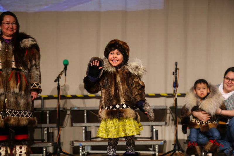 The Fur Fashion Show featured beautiful parkas and Yup'ik accessories.