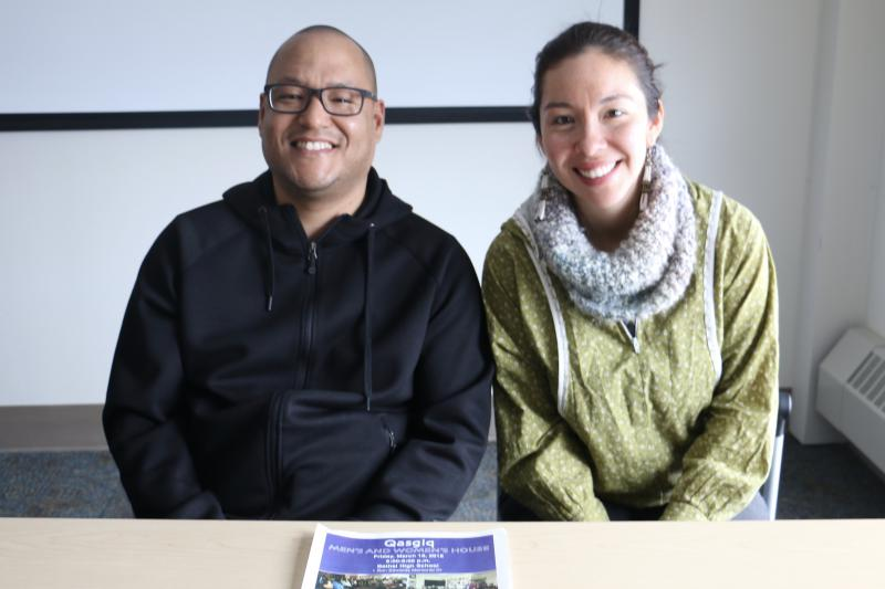 Starting at 6 p.m. on Friday, March 16 at Bethel Regional High School in classrooms C-22 and C-23, a men's and women's house qasgiq will be hosted by First Alaskans Institute, with Torin Jacobs [left] hosting the men's house and Andrea Sand