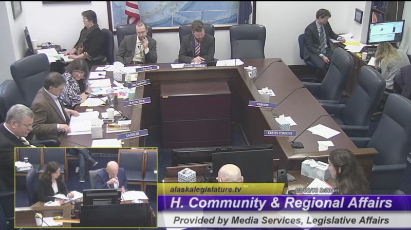 House Community and Regional Affairs hearing on Tuesday, March 8, 2018 with Dan Ortiz answering questions on HCR 19, a bill urging Governor Bill Walker to issue an administrative order recognizing a linguistic emergency for Alaska Native languages.