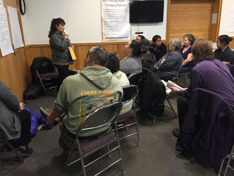 The Yukon-Kuskokwim Health Corporation met for their annual Tribal Unity Gathering at the Bethel Cultural Center two weeks ago. The group pictured here is discussing meeting Healthy People goals in their tribal communities.