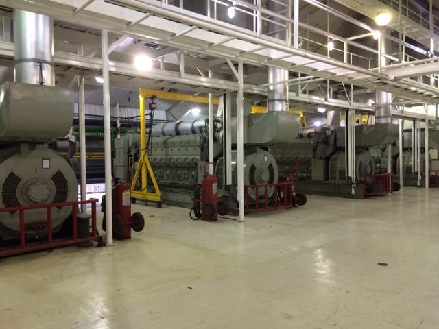 The generators at the Bethel Power Plant.