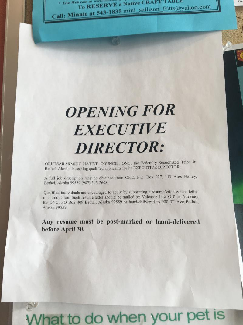 ONC started publicly advertising for a new executive director several weeks ago, but the organization will not confirm that their current director is leaving.
