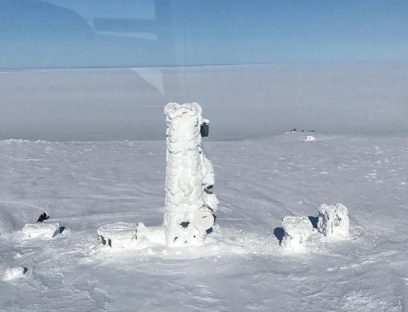Extreme ice encasing a GCI communications tower near Scammon Bay has disrupted phone and internet services throughout the area since March.