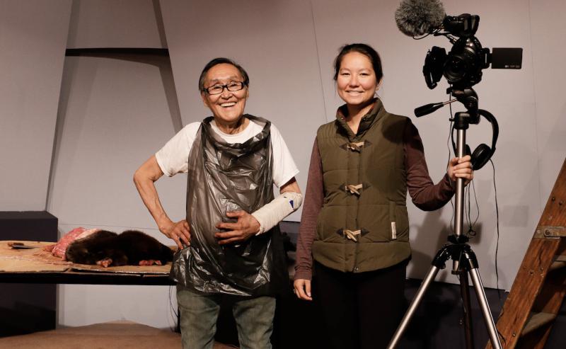 John Active [left] and KYUK's Wellness Program Producer Aleina Tenabe [right].