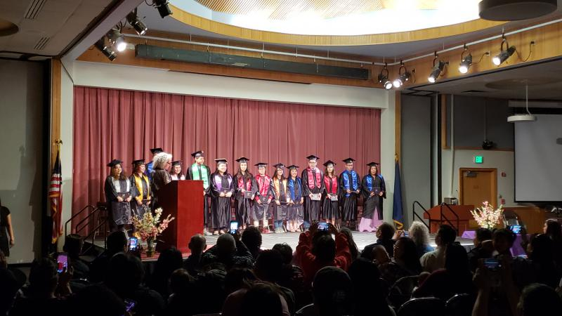 Fourteen students graduated from the Kuskokwim Learning Academy on May 11, 2018.