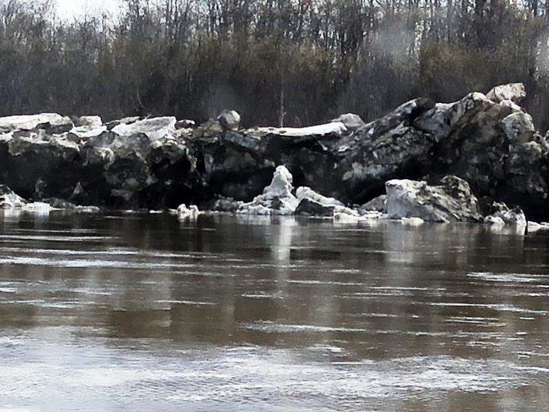 Ice jam. Photo taken on May 15, 2018.