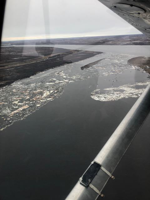 Johnson River ice free. Photo taken on May 8, 2018.