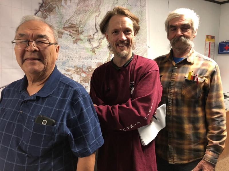 From left to right: Sergeant US Army Henry Hunter Sr, S. Grady Deaton and AMH3 USN Buck Bukowski. Photo taken on May 25, 2018.