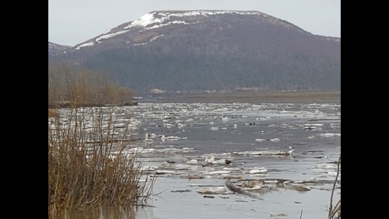 Kalskag Hill in Lower Kalskag, AK. Photo taken on May 14, 2018.