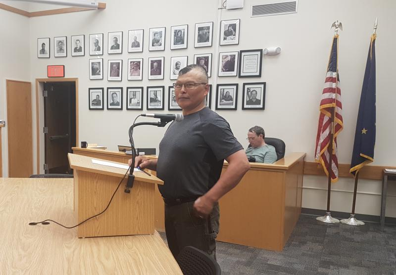 Brian Henry addresses Bethel City Council before his appointment to the body on June 5, 2018.