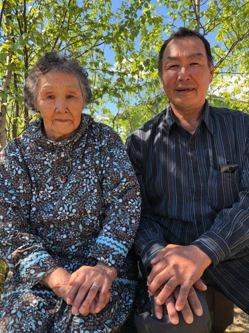 John Active's biological sister Natalia 'Yuukaq' Berlin and nephew Sammy Anvil. Photo taken on June 5, 2018.