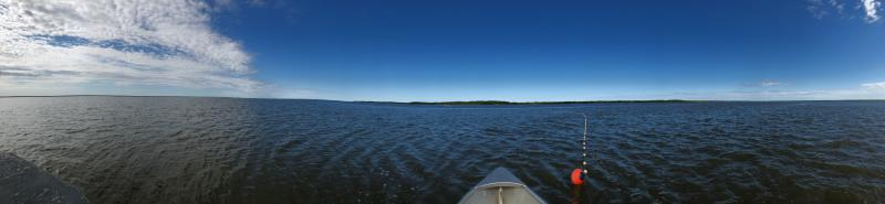 Panoramic of the Johnson River on June 12, 2018.
