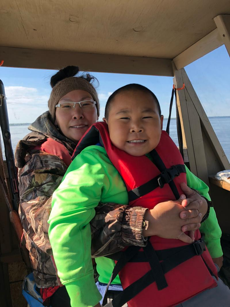 Petra and Jace Harpak heading up to Johnson River on June 12, 2018.