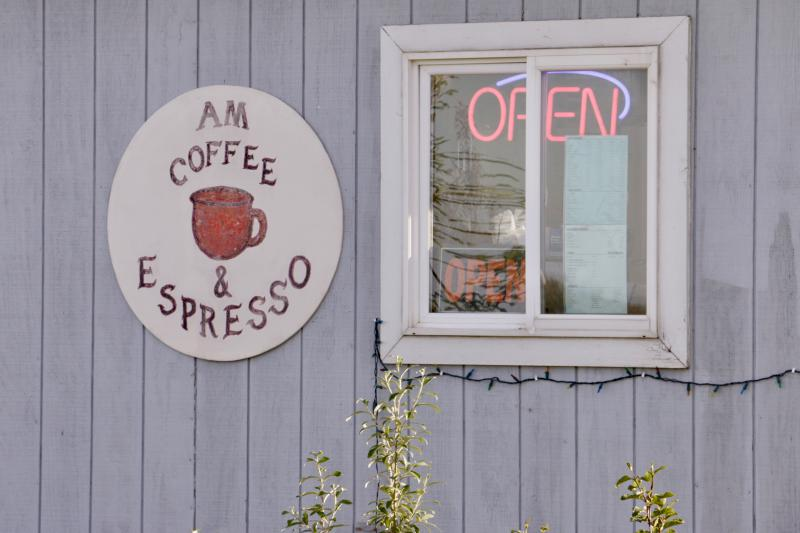 Since April, Bethel has been a-buzz with its own, homegrown drive-thru coffee shop: AM Coffee & Espresso, located at 107C Alex Hately Drive off Chief Eddie Hoffman Highway.