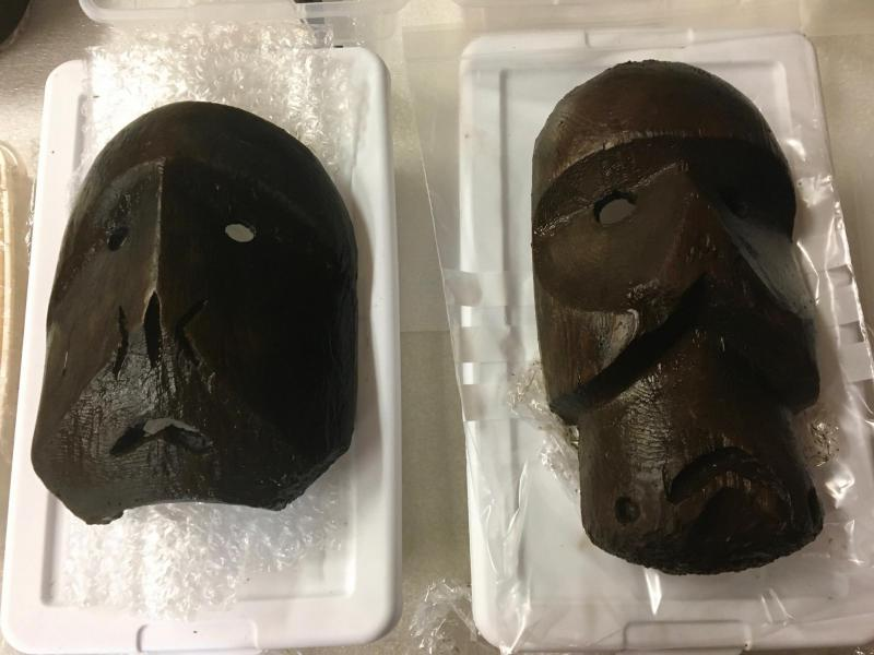 More than 60,000 artifacts arrived home in Quinhagak on July 31, 2018 after being preserved in Scotland. The artifacts were recovered from Nunalleq, an ancient village along the coast outside of Quinhagak.