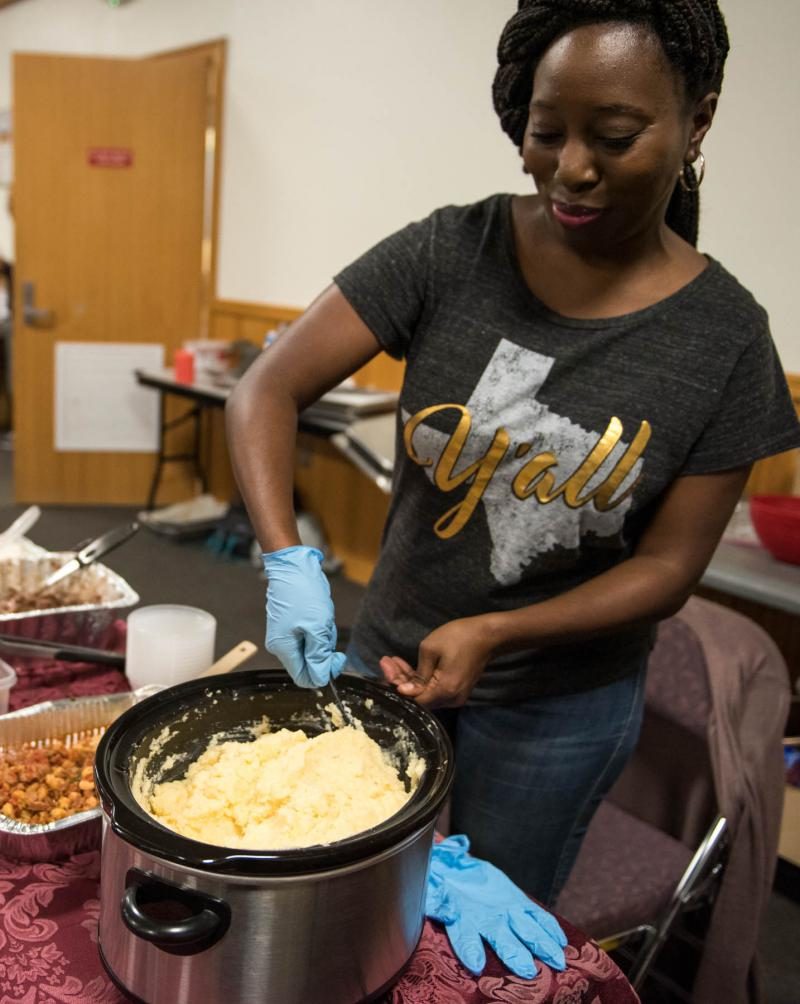 Dinetta Morris brought Soul Food to the second annual Taste of Bethel event on August 18, 2018.