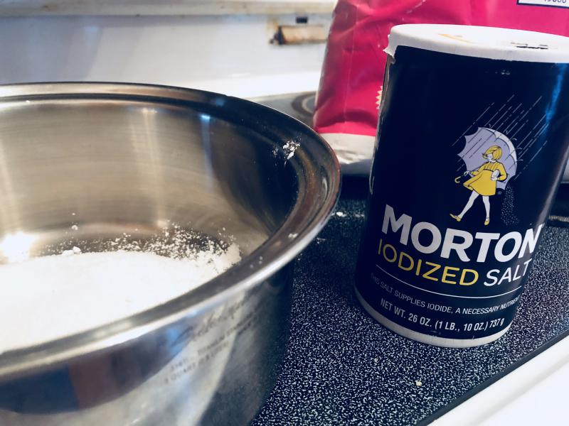 Add 1/8 teaspoon of salt.