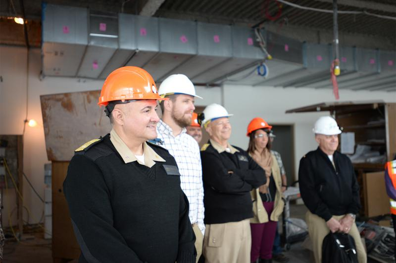 Rear Admiral Michael Weahkee, the Acting Director of the Indian Health Service, toured YKHC's hospital expansion on August 7, 2018.