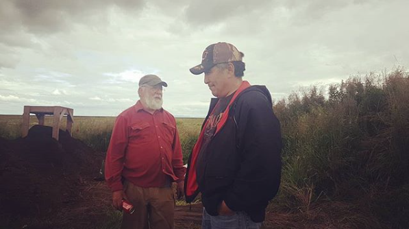 Archeologist Rick Knecht (left) of the University of Aberdeen and Qanirtuuq Inc. CEO Warren Jones (right) for the Native Village of Quinhagak, Alaska has worked for the past decade on one of the first archeological & Indigenously community based dig site