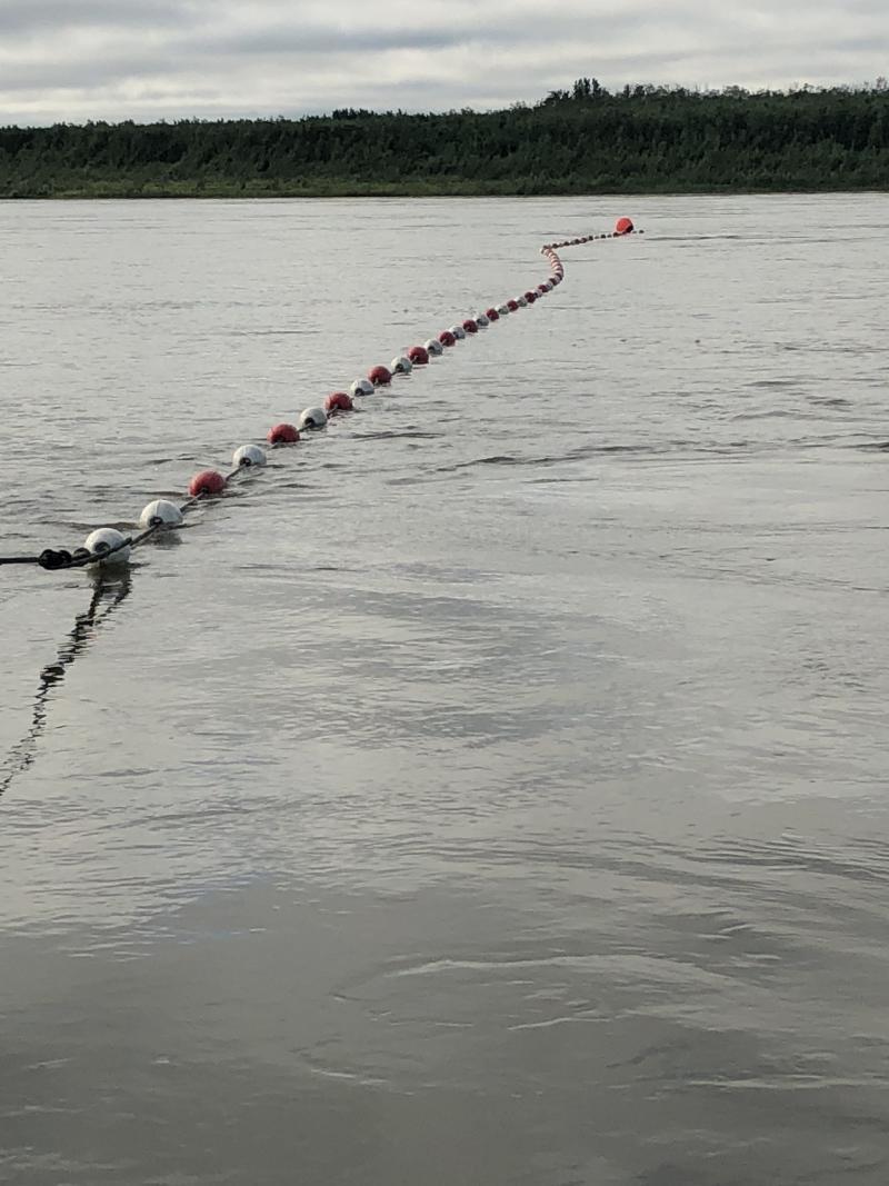 Drift net on the Kuskokwim River.