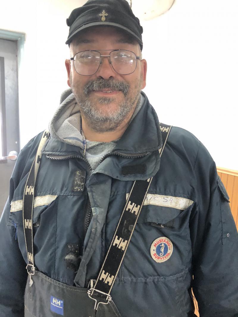Eric Morgan Sr. of Chuathbaluk explains how fishing is like in Aniak on July 9, 2018.