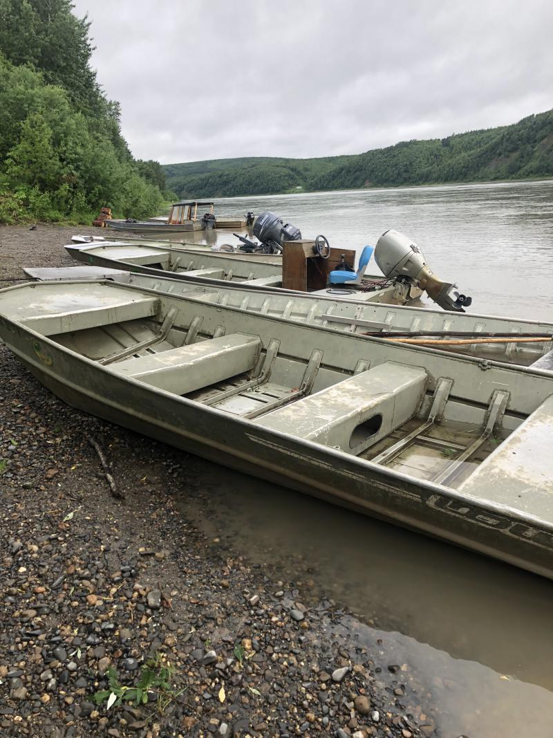 Sleetmute boats.