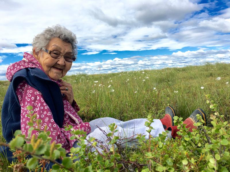 "80-year-old Bethel elder, Esther ""Nuqarrluk"" Green."