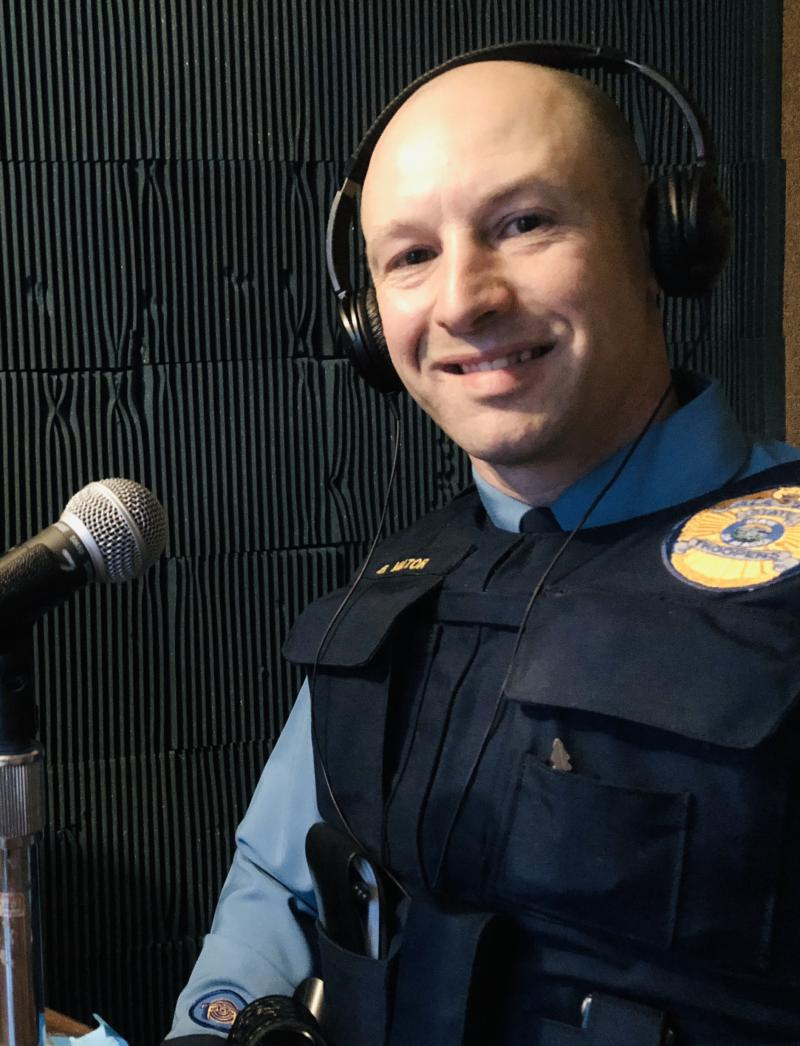 Alaska State Trooper Brandon Viator on October 2, 2018.