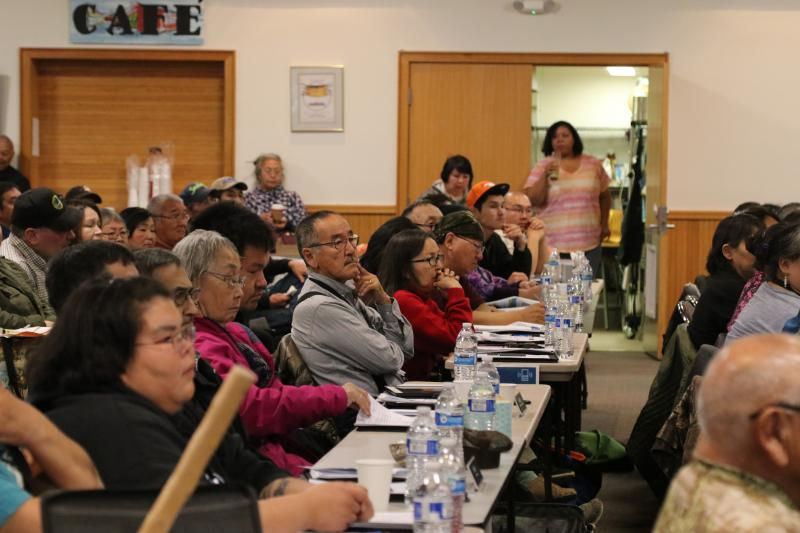 Delegates at the annual AVCP conference held at the Bethel Cultural Center on October 2, 2018.