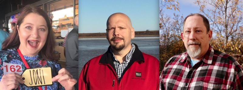 "Joni Beckham (left), Jon Cochrane (center), and Rodney ""Mark"" Jones (right) have been elected to Bethel's Advisory School Board."