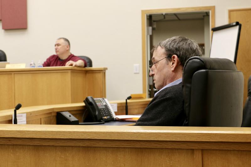 Bethel City Manager Peter Williams (right) got a 2 percent pay raise from the city council following his annual review on Tuesday night.