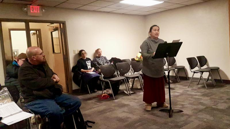 On Thursday, January 10, 2019, the Bethel Planning Commission granted ALASKAbuds a conditional use permit despite community members like Kuskokwim Learning Academy teacher Danielle Craven (right), speaking against allowing the store a permit.