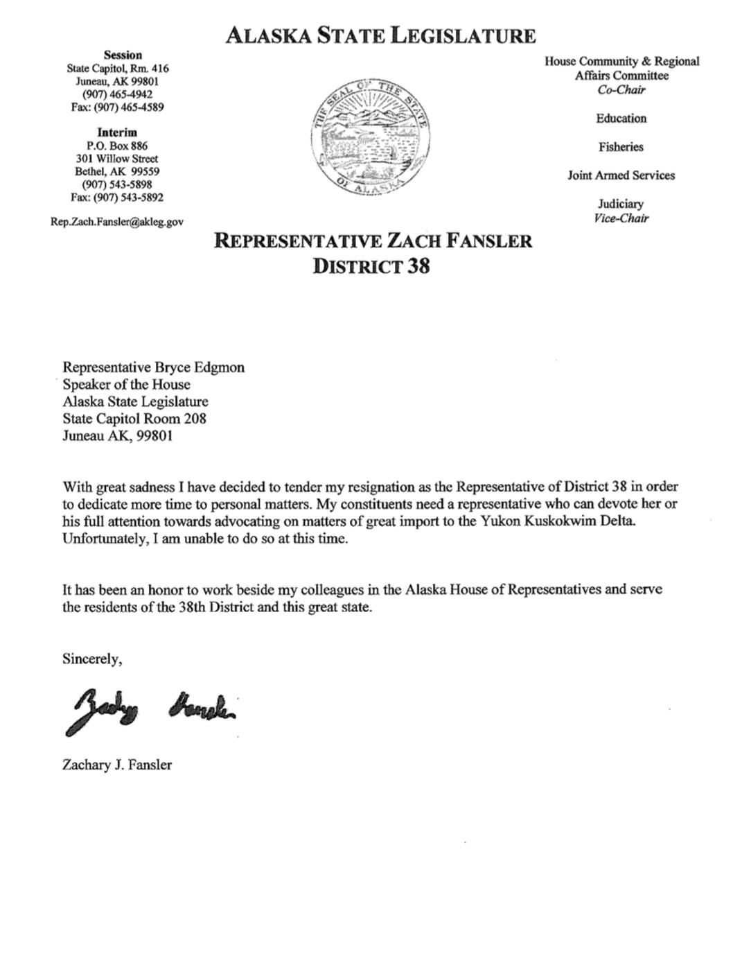 Bethel legislator resigns from State House