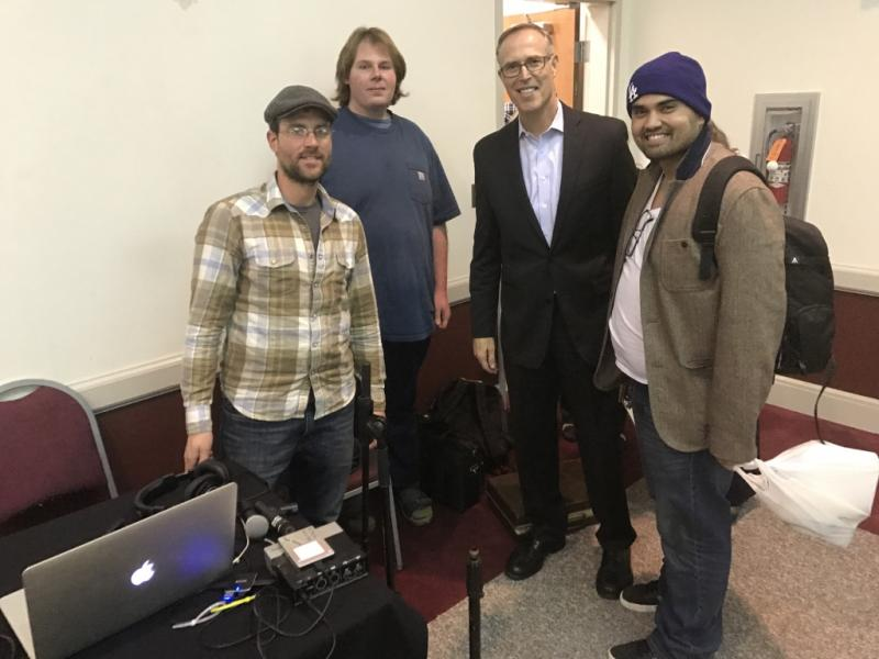 Congressman Huffman and the KZYX/Mendocino College audio team