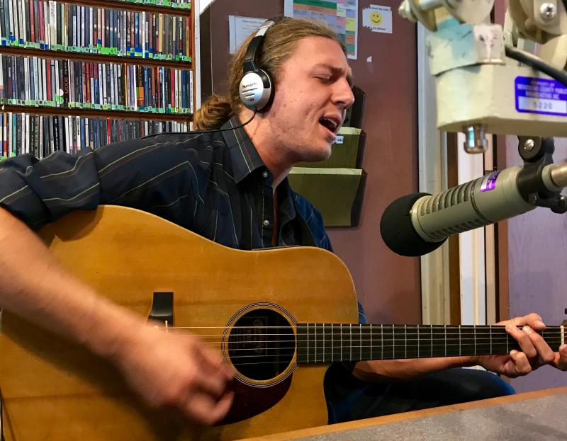Songwriter Brooks Forsyth performs in the KZYX Philo studio on Tuesday 22 August 2017