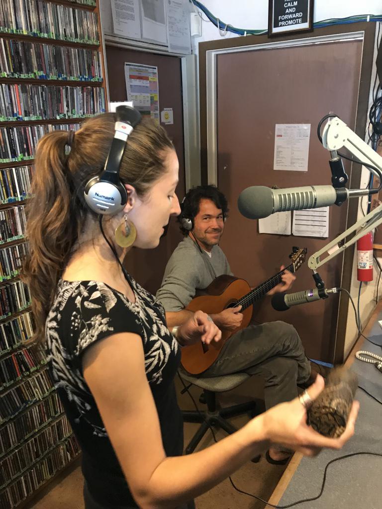 Latin-Brazilian duo Maracujá perform live at KZYX on 21 Sept 2017