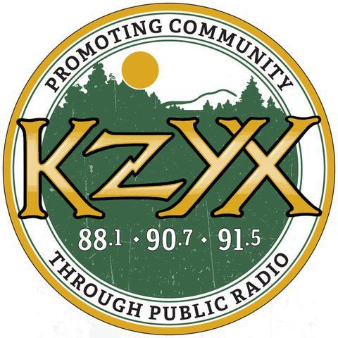 New for 2017! KZYX Promoting Community sticker, designed by Lemon Fresh Design