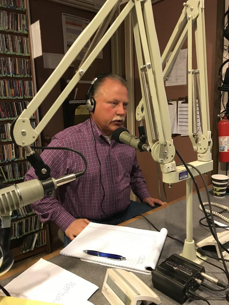 Mendocino County Sheriff Tom Allman in the KZYX studio 3 November 2017