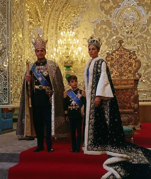 Coronation of Mohammad Reza Shah with his family before the Peacock Throne