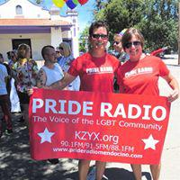 Corporal Cin and Terri B at Mendo Pride