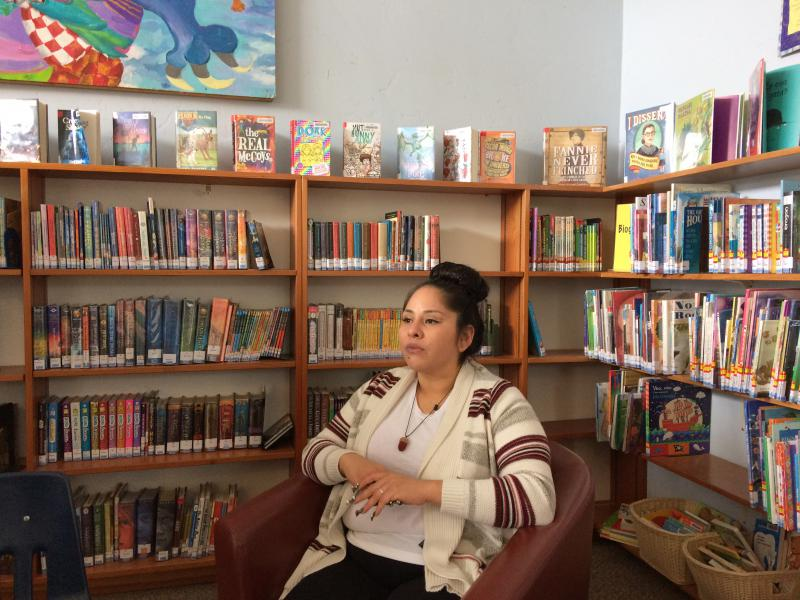 Bernadette Smith at Point Arena Library