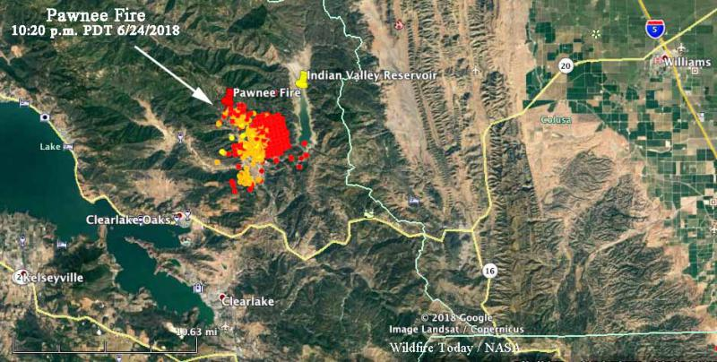 Pawnee Fire Map