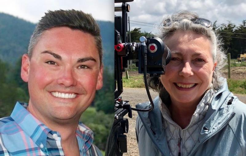 Travis Scott, executive director, and Alison de Grassi, marketing and media manager, Visit Mendocino