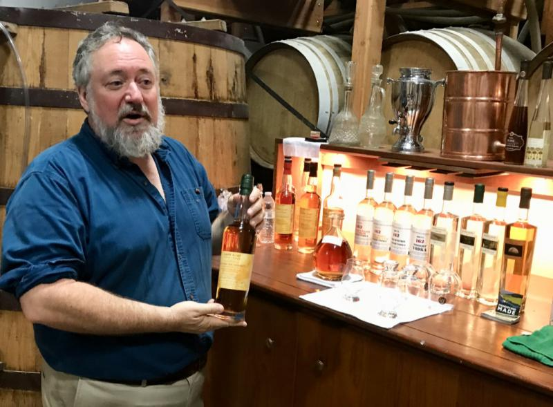 Mendocino Works guest Crispin Cain, president and senior distiller at American Craft Whiskey Distillery in Redwood Valley