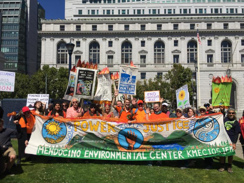 Activists from Mendocino County at the San Francisco Civic Center