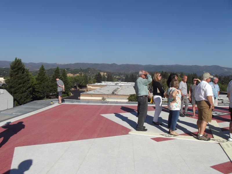 A view of the valley from the new helipad.