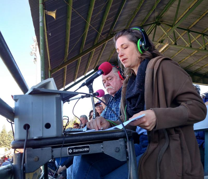 Alice Woefle and Kevin Owens broadcast live on KZYX